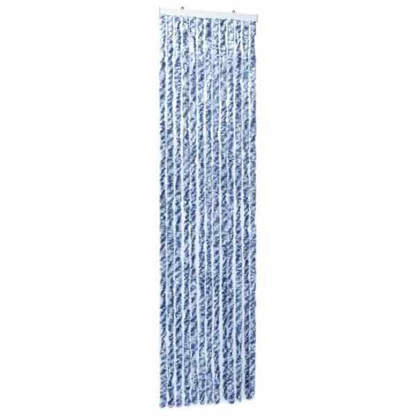 vidaXL Perdea de insecte, albastru, alb, argintiu, 56×185 cm, Chenille