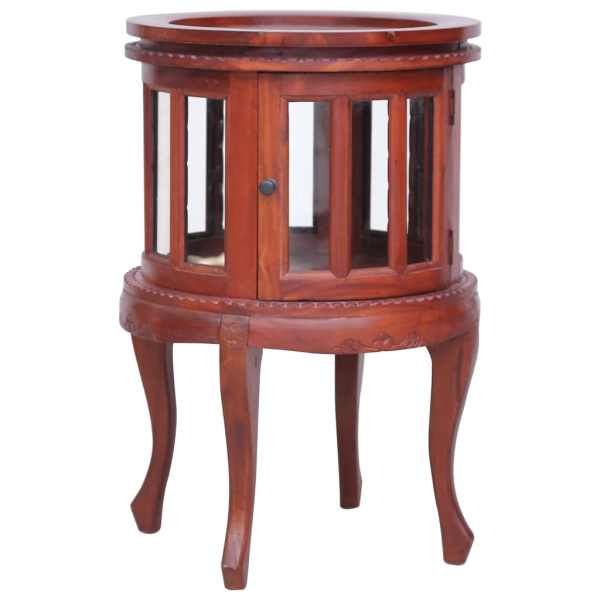 vidaXL Dulap cu vitrină, maro, 50 x 50 x 76 cm, lemn masiv de mahon