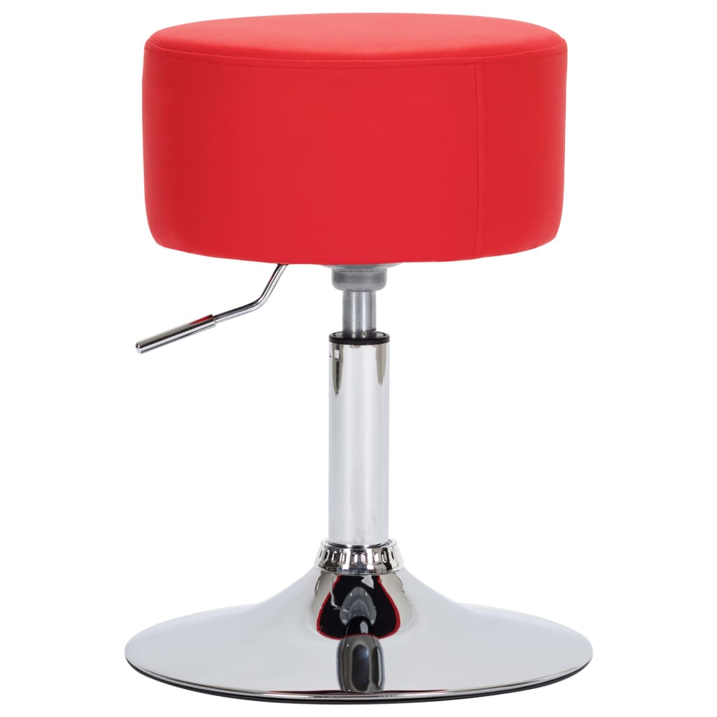vidaXL Scaun de bar, roșu, piele ecologică