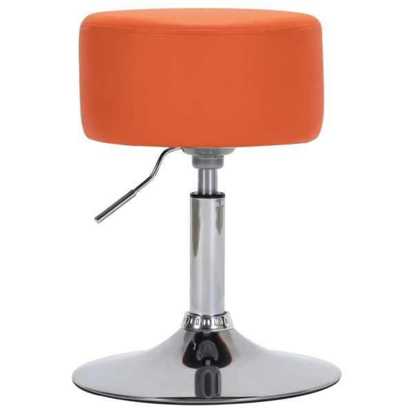 vidaXL Scaun de bar, portocaliu, piele ecologică