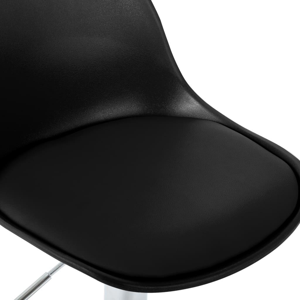 Scaun de bar, negru, piele ecologică