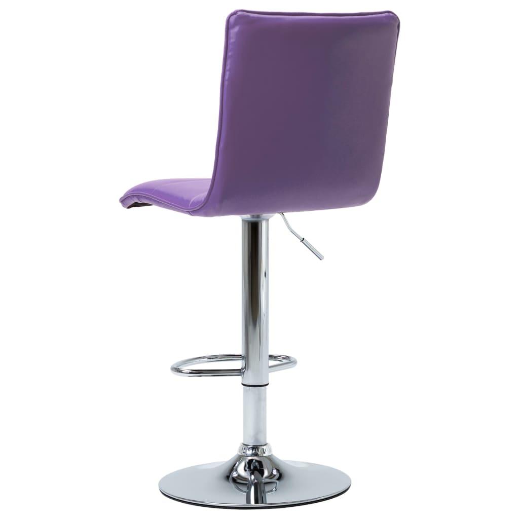 Scaune de bar, 2 buc., violet, piele artificială