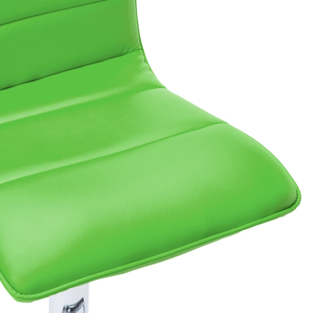 vidaXL Scaune de bar, 2 buc., verde, piele artificială