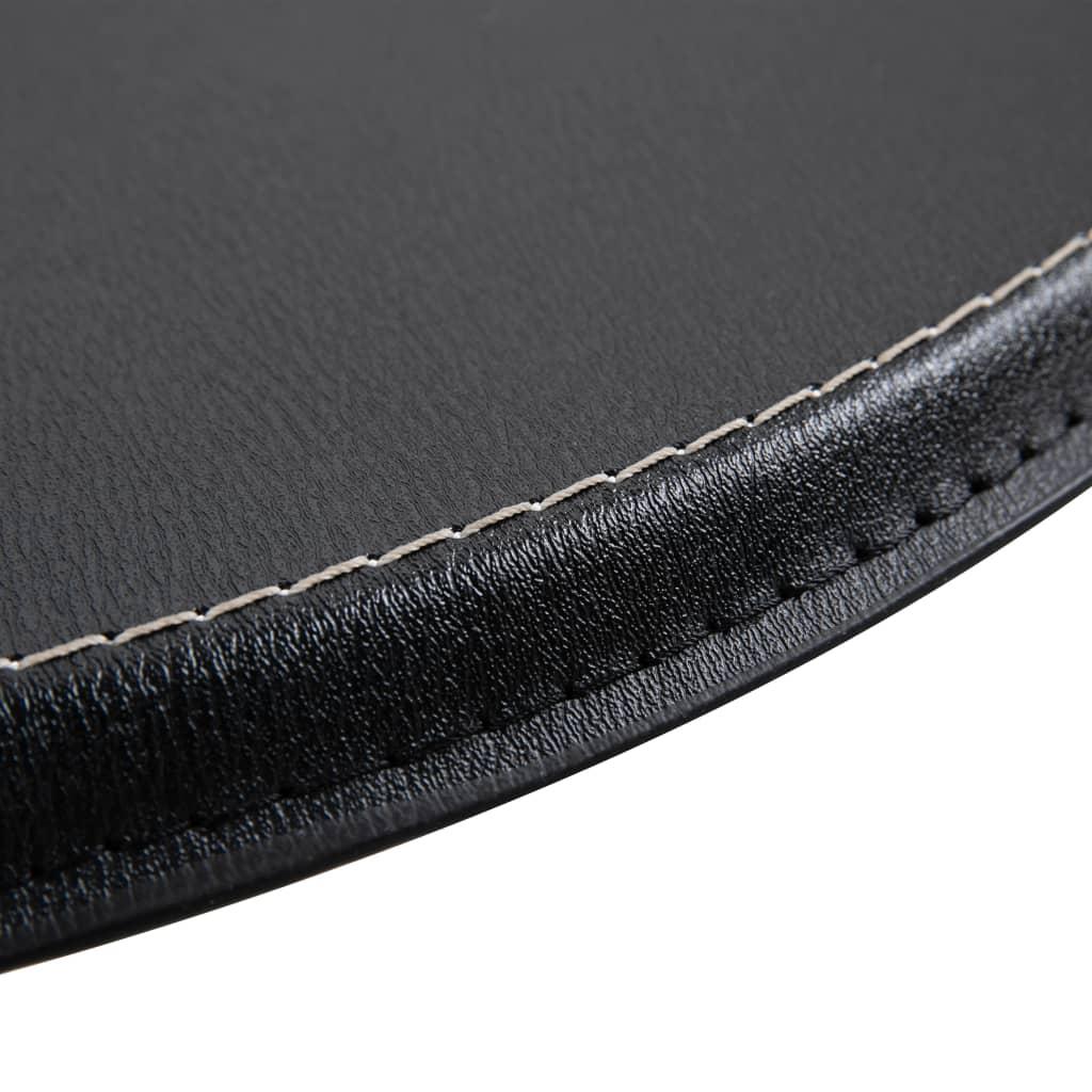 vidaXL Masă de bar, negru, Ø60 cm, MDF