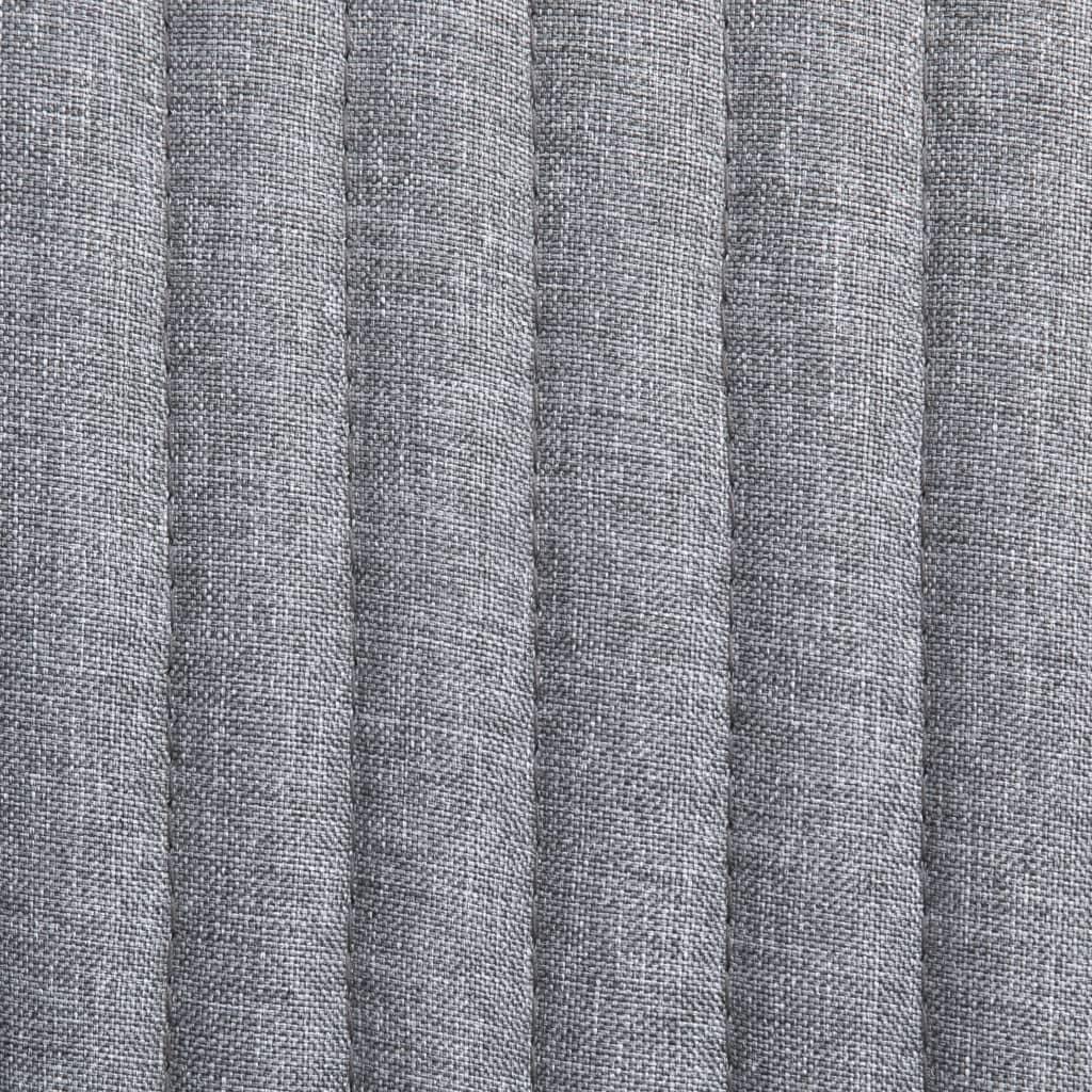 vidaXL Scaune de bucătărie, 2 buc., gri deschis, material textil