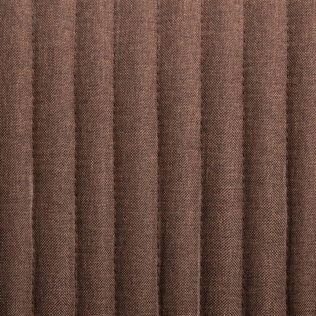 Scaune de bucătărie, 2 buc., maro, material textil