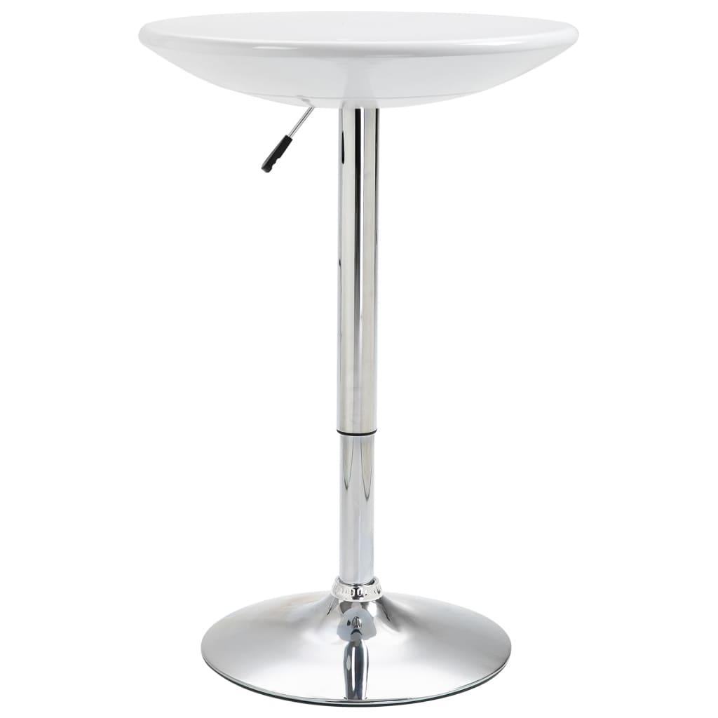 vidaXL Masă de bar, alb, Ø60 cm, ABS
