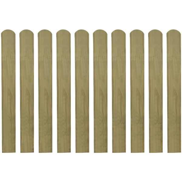 Șipci de gard din lemn tratat, 30 buc., 80 cm