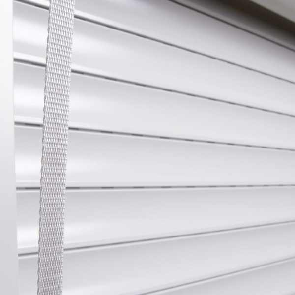 vidaXL Oblon rulant, alb, 100 x 100 cm, aluminiu