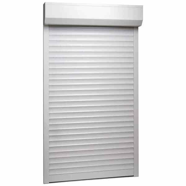vidaXL Oblon rulant, alb, 100 x 210 cm, aluminiu