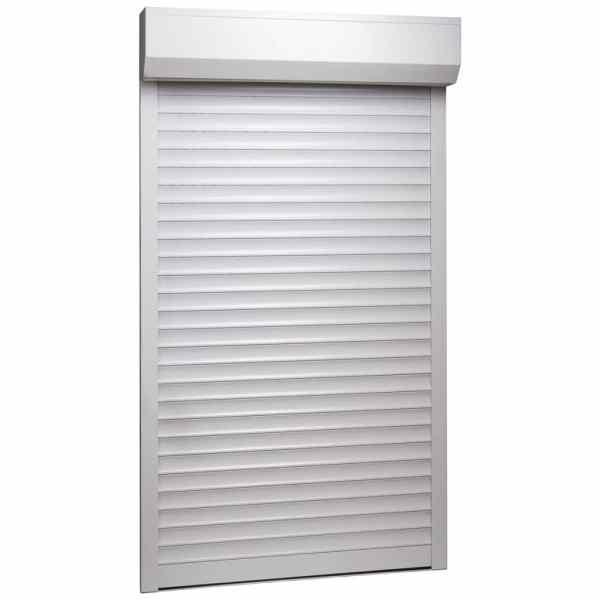 vidaXL Oblon rulant, alb, 110 x 220 cm, aluminiu