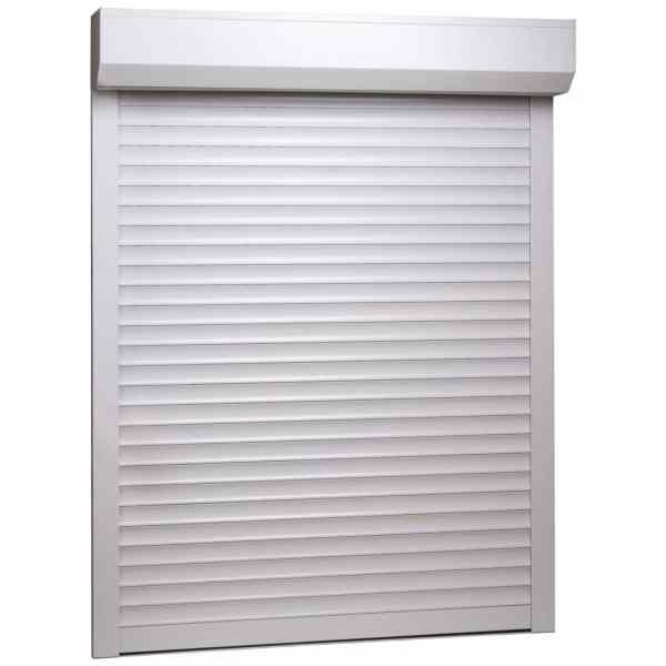 vidaXL Oblon rulant, alb, 130 x 140 cm, aluminiu