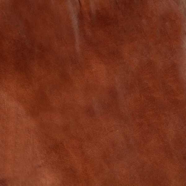 Scaun balansoar, maro, piele naturală și lemn masiv de mango