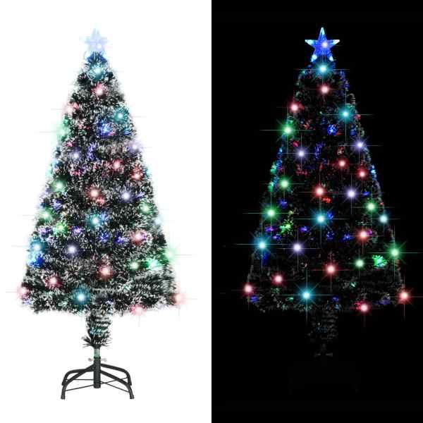 vidaXL Brad de Crăciun artificial cu suport/LED, 120 cm, 135 ramuri