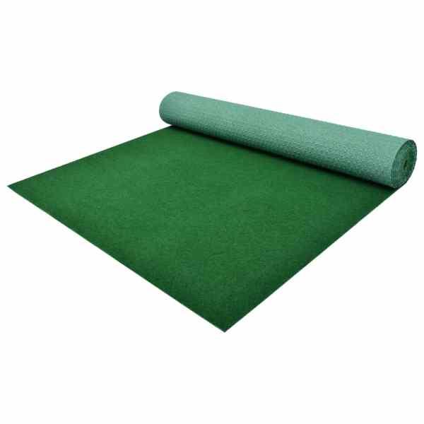 vidaXL Gazon artificial cu crampoane, verde, 2×1,33 m, PP