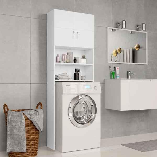 vidaXL Dulap mașina de spălat, alb, 64 x 25,5 x 190 cm, PAL