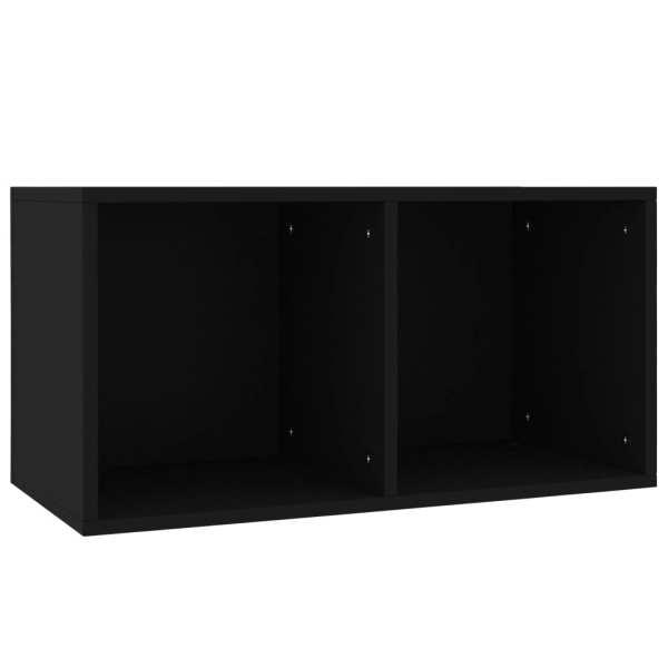 Cutie de depozitare vinyl-uri, negru, 71 x 34 x 36 cm, PAL