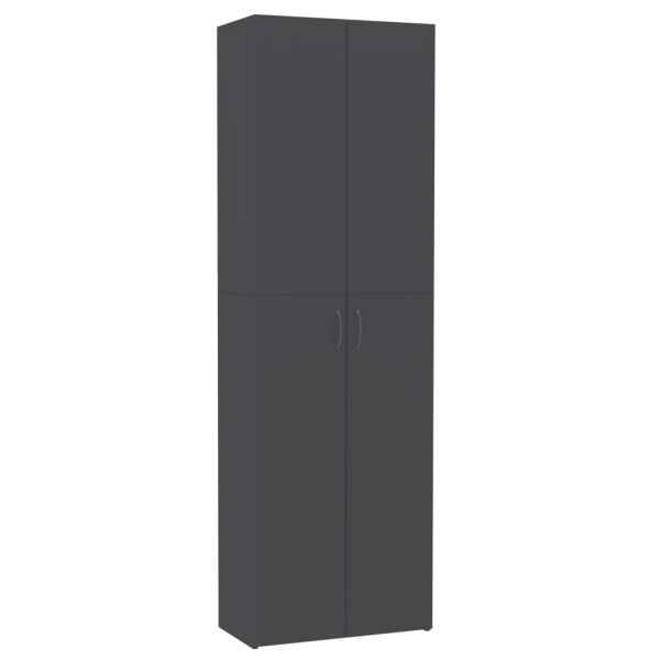 vidaXL Dulap de birou, gri, 60x32x190 cm, PAL