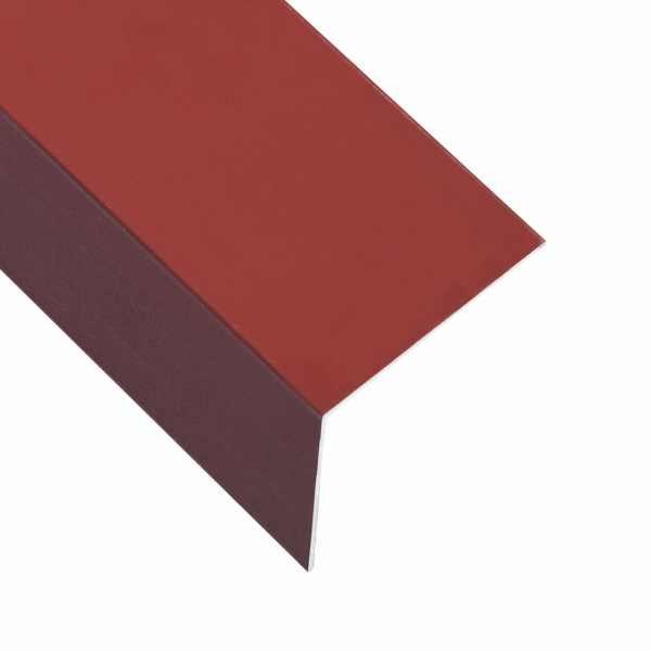 vidaXL Profile de colț în L 90° 5 buc. roșu 170 cm 100×100 mm aluminiu