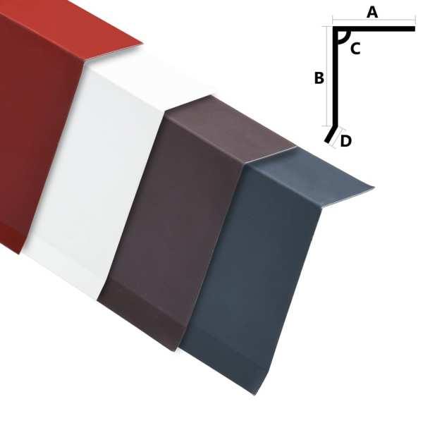 vidaXL Plăci bordură acoperiș în L, 5 buc., maro, 170 cm, aluminiu