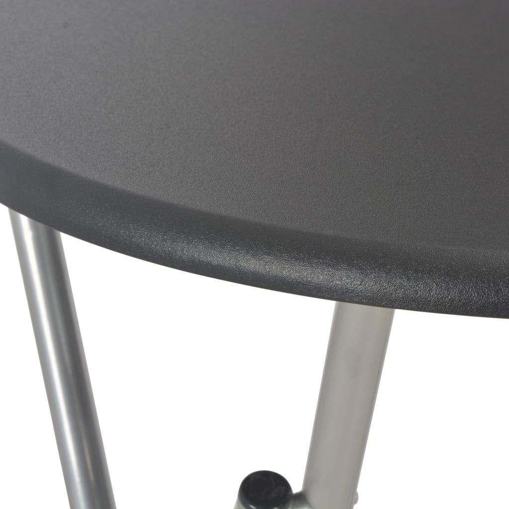 vidaXL Masă de bar, negru, 60 x 112 cm, MDF