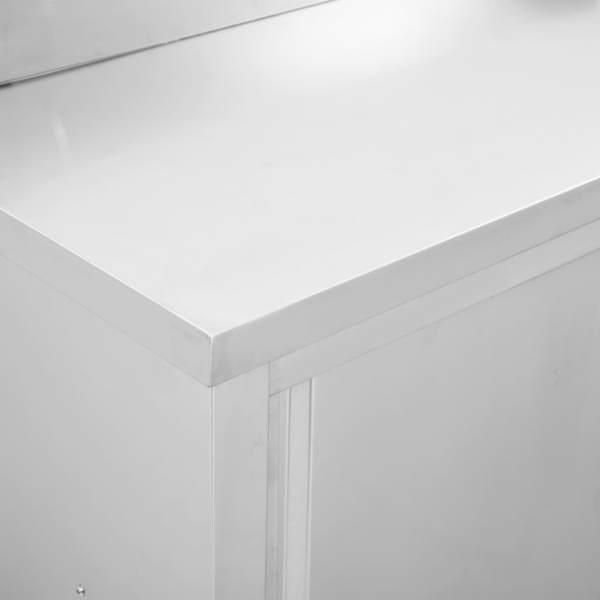 Masă de lucru cu uși glisante, 100x50x95 cm, oțel inoxidabil