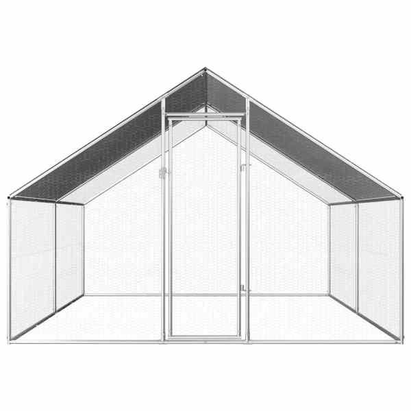 vidaXL Coteț de exterior pentru păsări, 2,75x4x1,92 m, oțel galvanizat