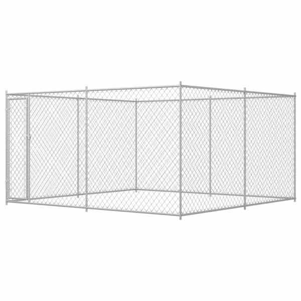 vidaXL Padoc pentru câini de exterior, 383x383x185 cm