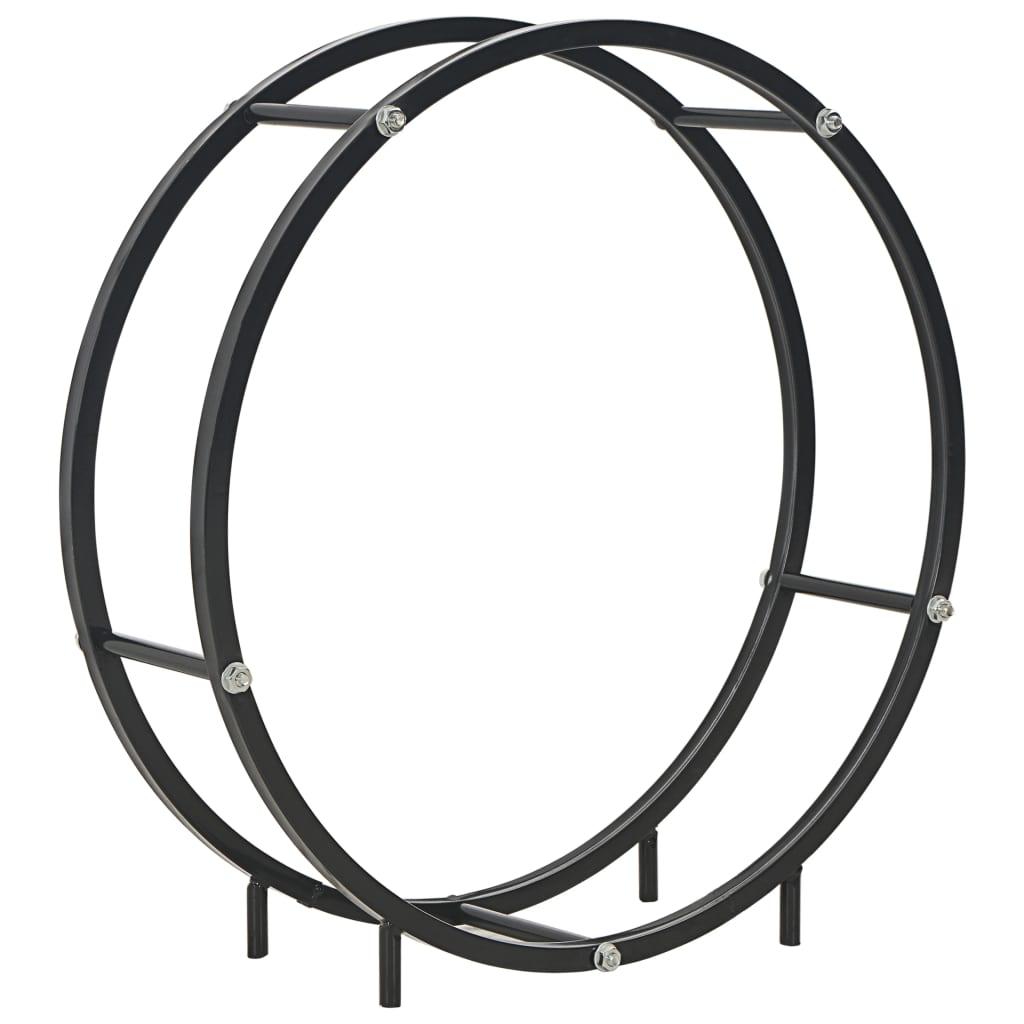vidaXL Rastel pentru lemne de foc, negru, 70x20x70 cm, oțel