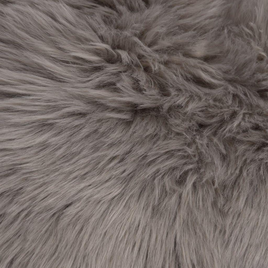 Covor, gri deschis, 60 x 90 cm, imitație de blană de oaie