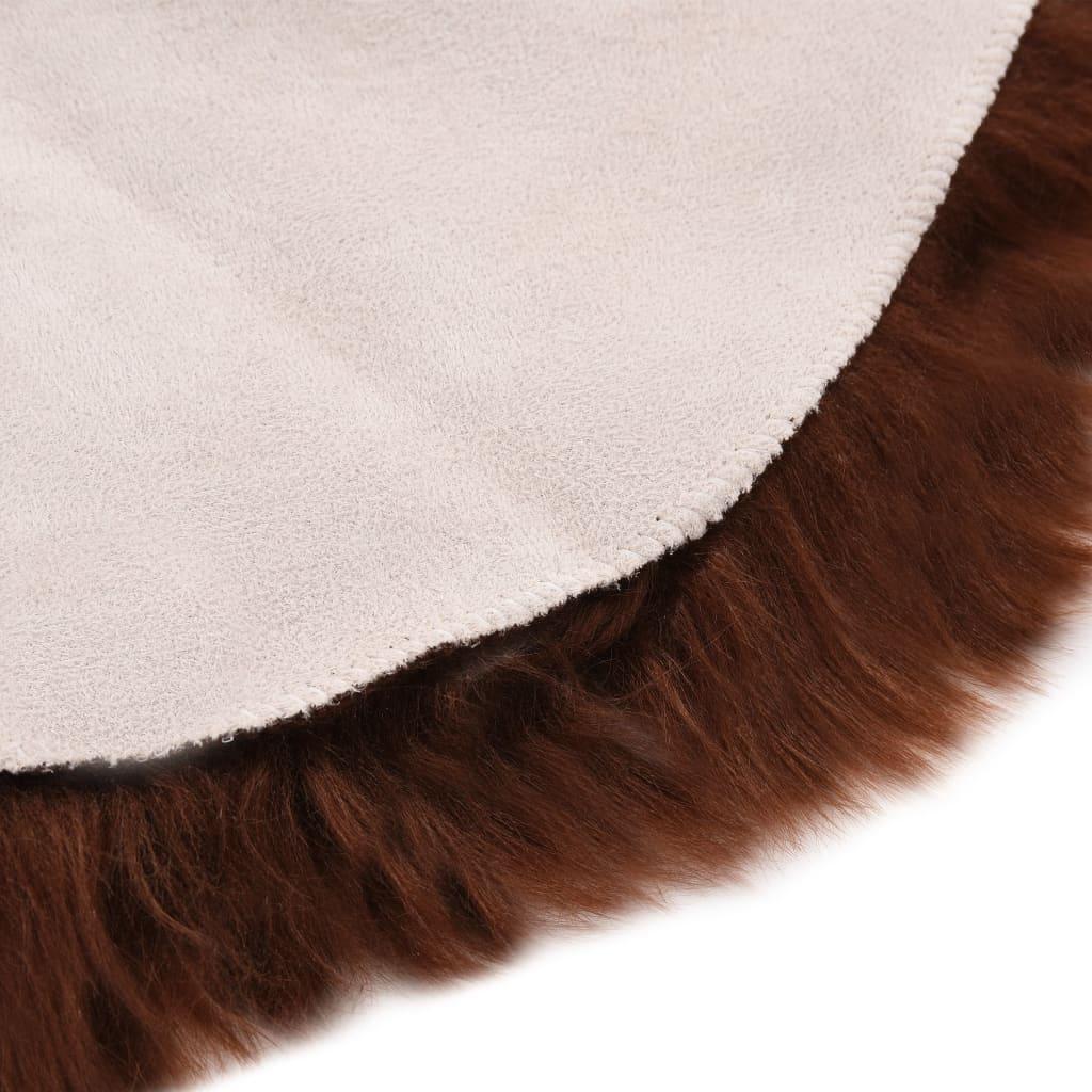 vidaXL Covor, maro, 60 x 90 cm, imitație blană de oaie