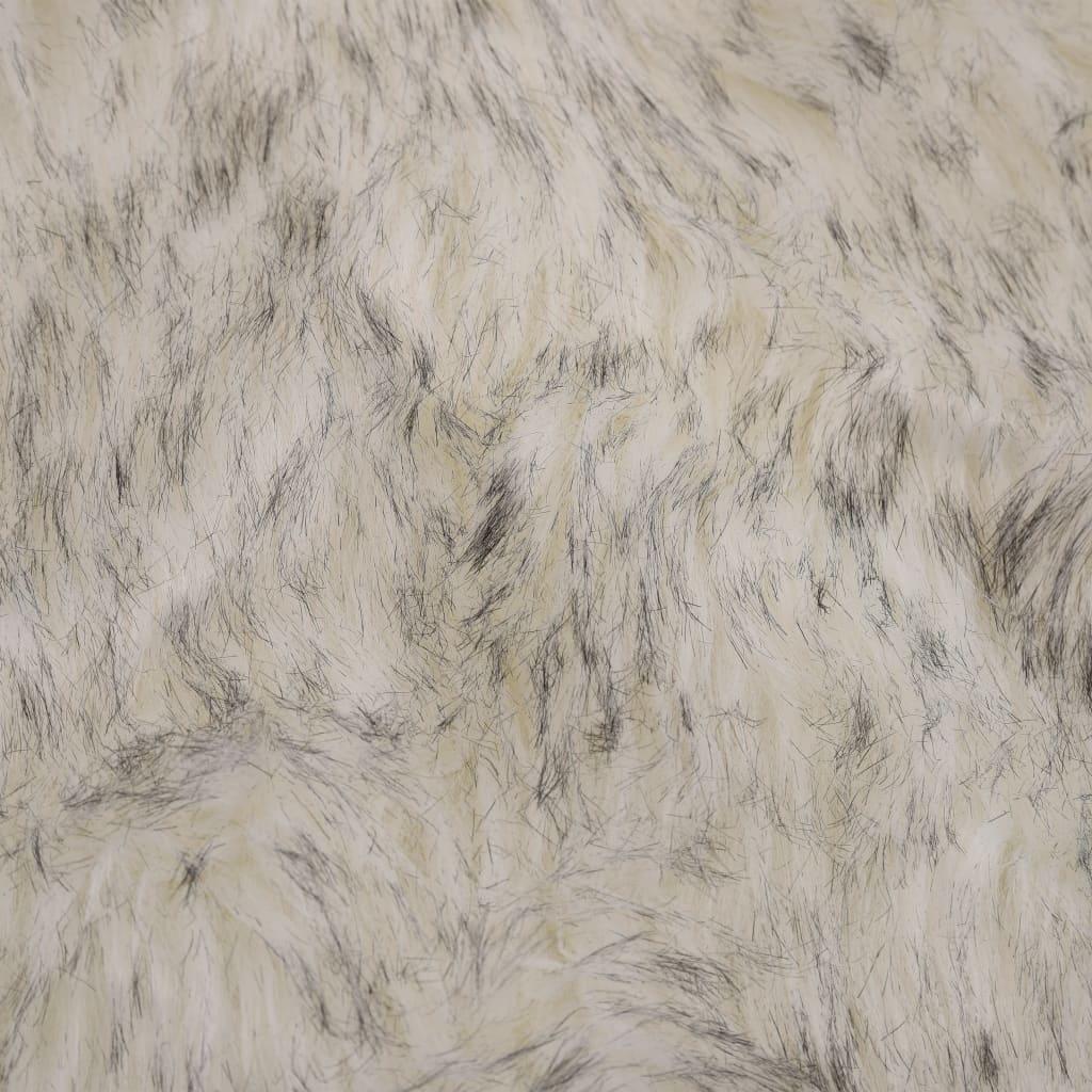 vidaXL Covor, gri melanj, 60 x 90 cm, imitație de blană de oaie