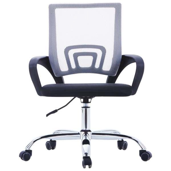 Scaun birou cu spătar din plasă, gri, material textil