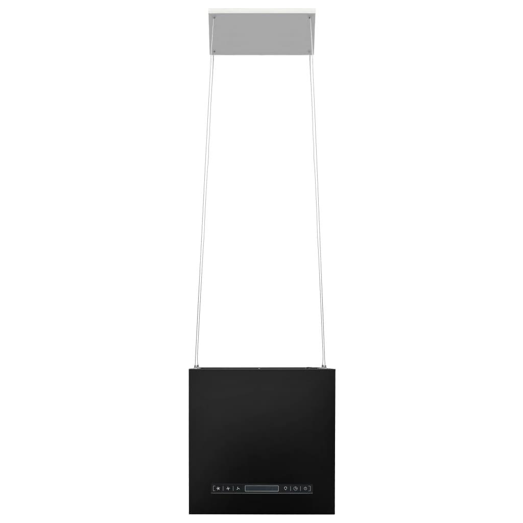 Hotă suspendată insulă, LCD tactil, 37 cm, oțel