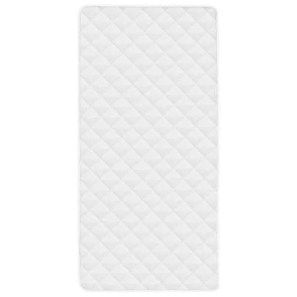 vidaXL Protecție pentru saltea matlasată, alb, 70 x 140 cm, groasă
