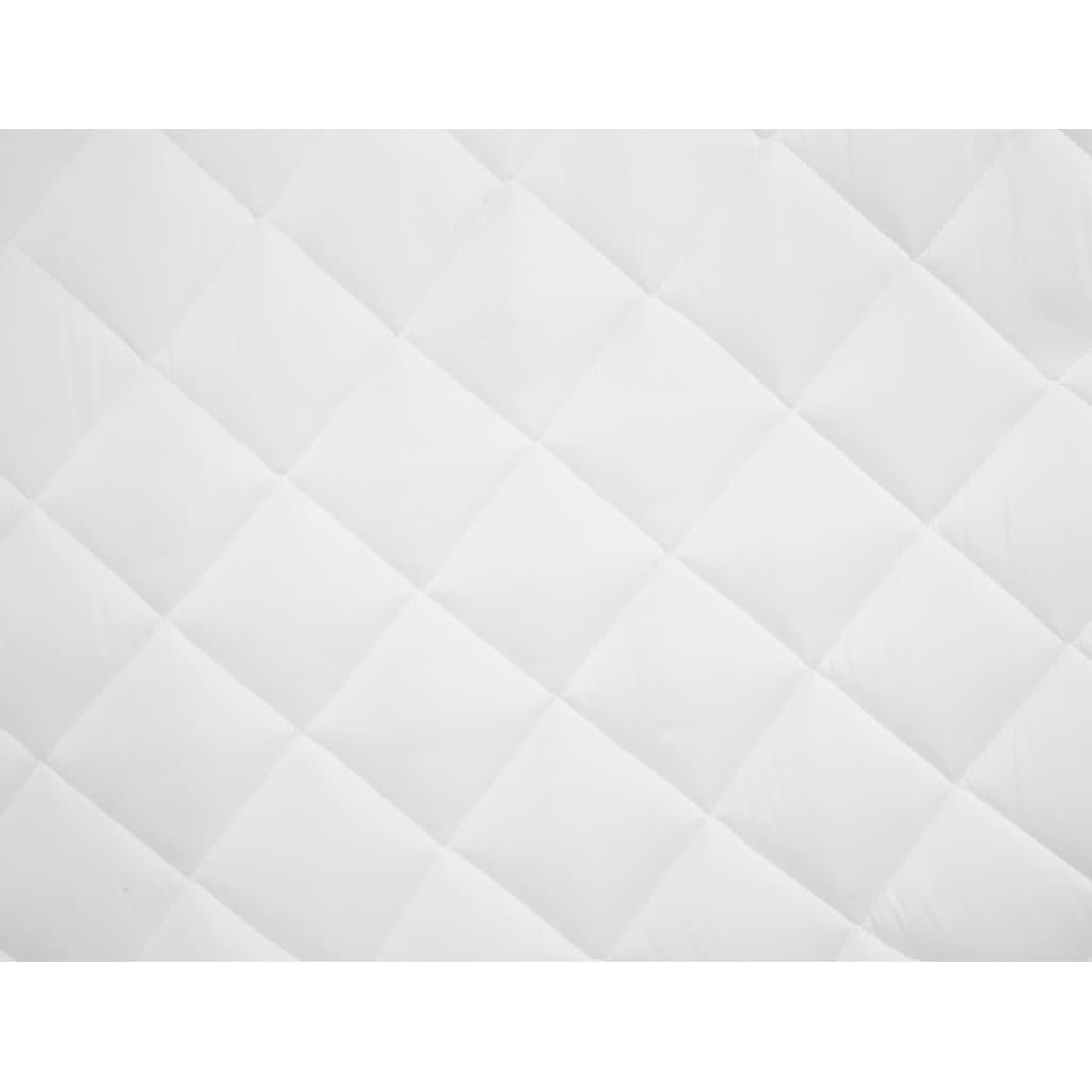 vidaXL Protecție pentru saltea matlasată, alb, 180 x 200 cm, subțire