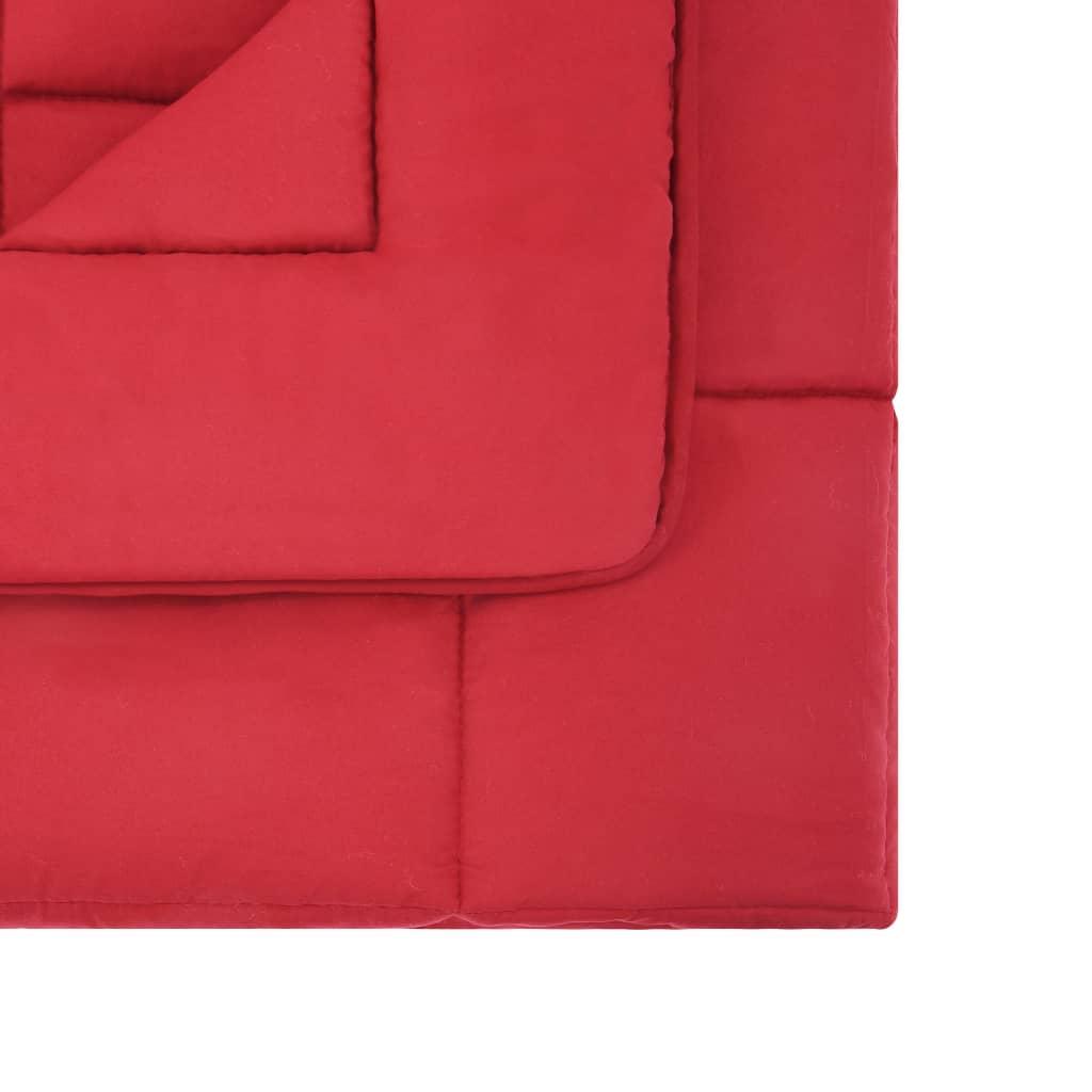 vidaXL Set pilotă iarnă 3 piese roșu burgund 200×220/60×70 cm textil