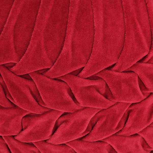 Fotoliu puf, design romburi, roșu 40 x 30 cm, catifea de bumbac