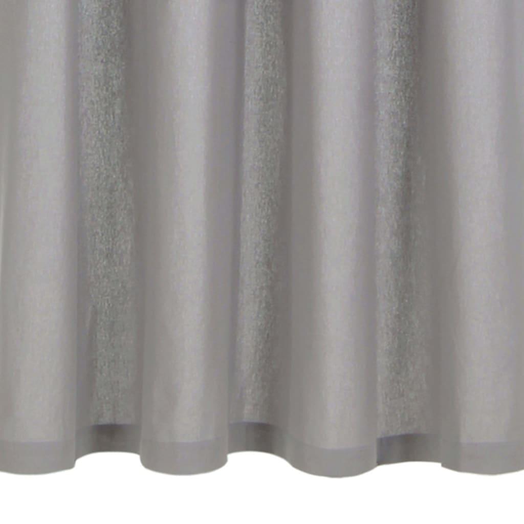 Perdele cu inele metalice, 2 buc., gri, 140 x 175 cm, bumbac