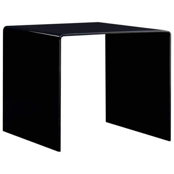 vidaXL Măsuță de cafea, negru, 50 x 50 x 45 cm, sticlă securizată