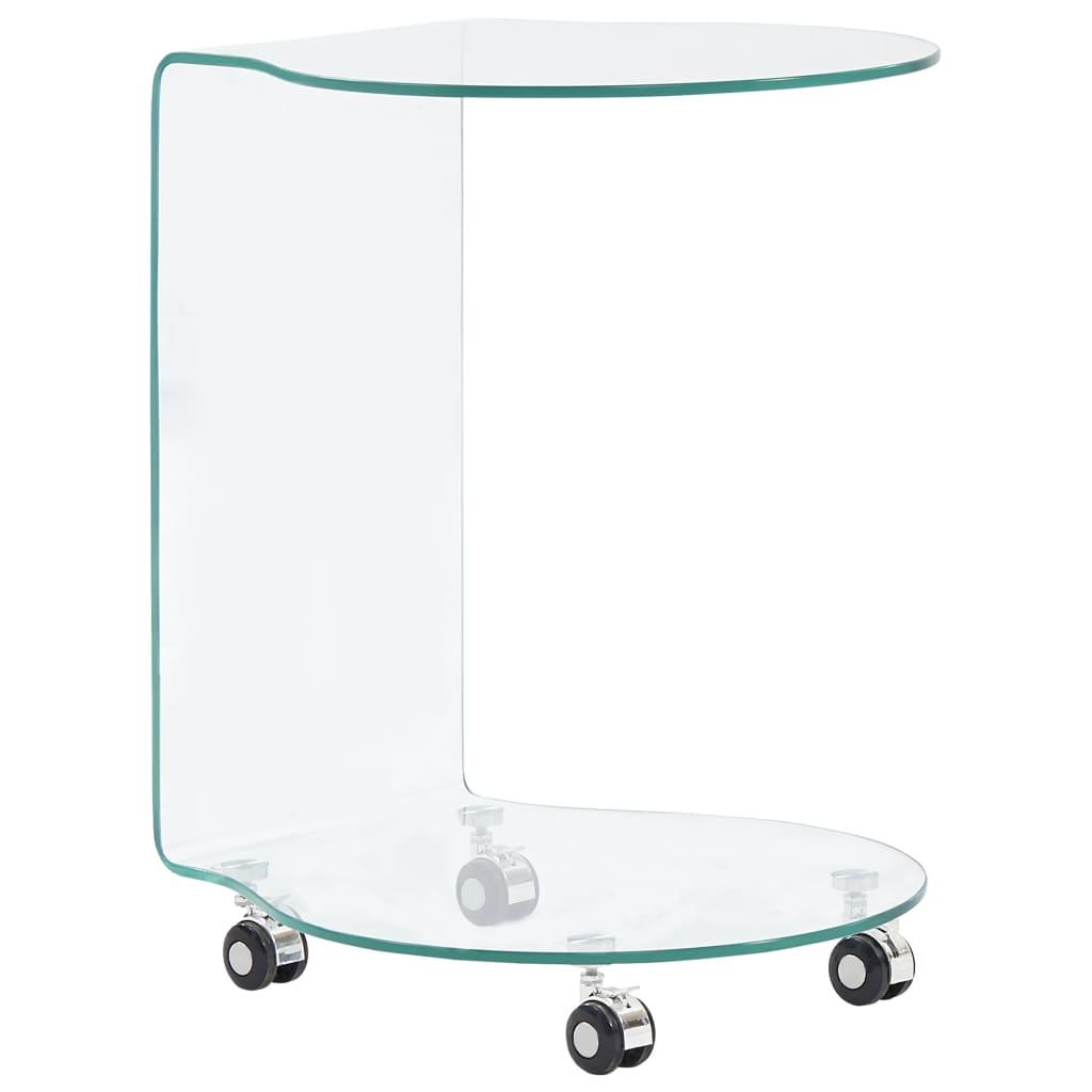 vidaXL Măsuță de cafea, 45 x 40 x 58 cm, sticlă securizată