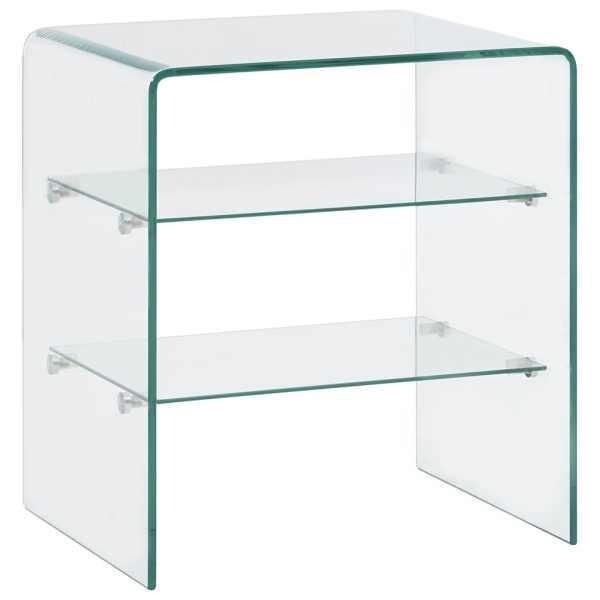vidaXL Măsuță de cafea, 50 x 40 x 56 cm, sticlă securizată