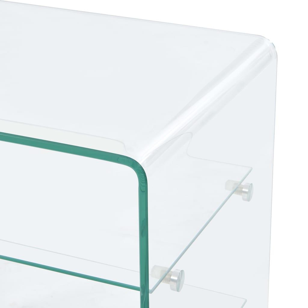 Măsuță de cafea, 50 x 40 x 56 cm, sticlă securizată