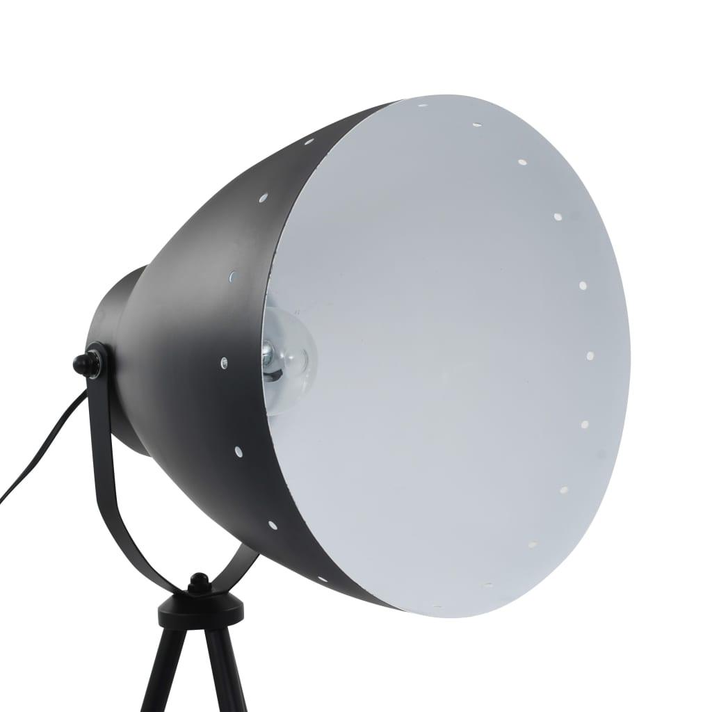 vidaXL Lampă trepied de podea, negru, metal, E27