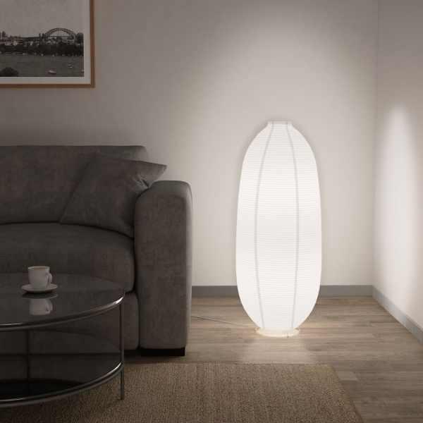 vidaXL Lampă de podea, alb, E14