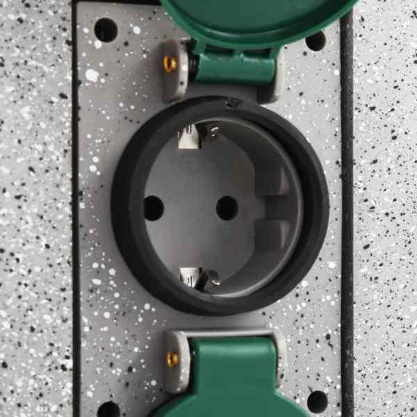 vidaXL Priză de grădină verticală cu senzor de seară, plastic