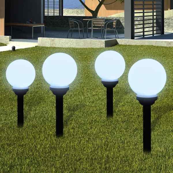 vidaXL Lămpi de exterior pentru alee LED 8 buc. 15 cm, cu țăruș de sol