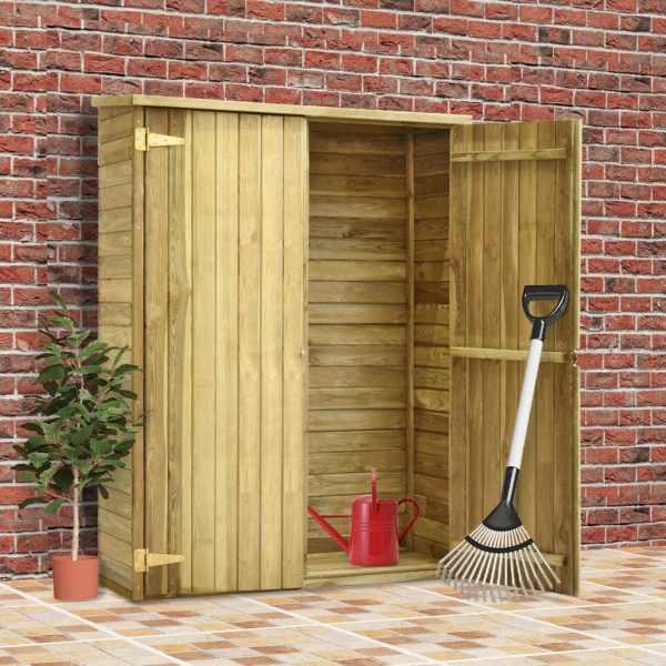 vidaXL Magazie unelte de grădină, 123x50x171 cm, lemn pin tratat