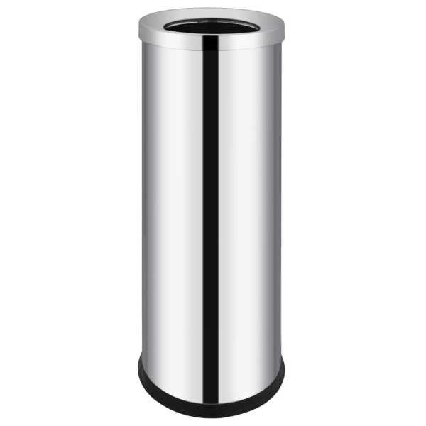 vidaXL Coș de gunoi pentru hotel, 32 L, oțel inoxidabil