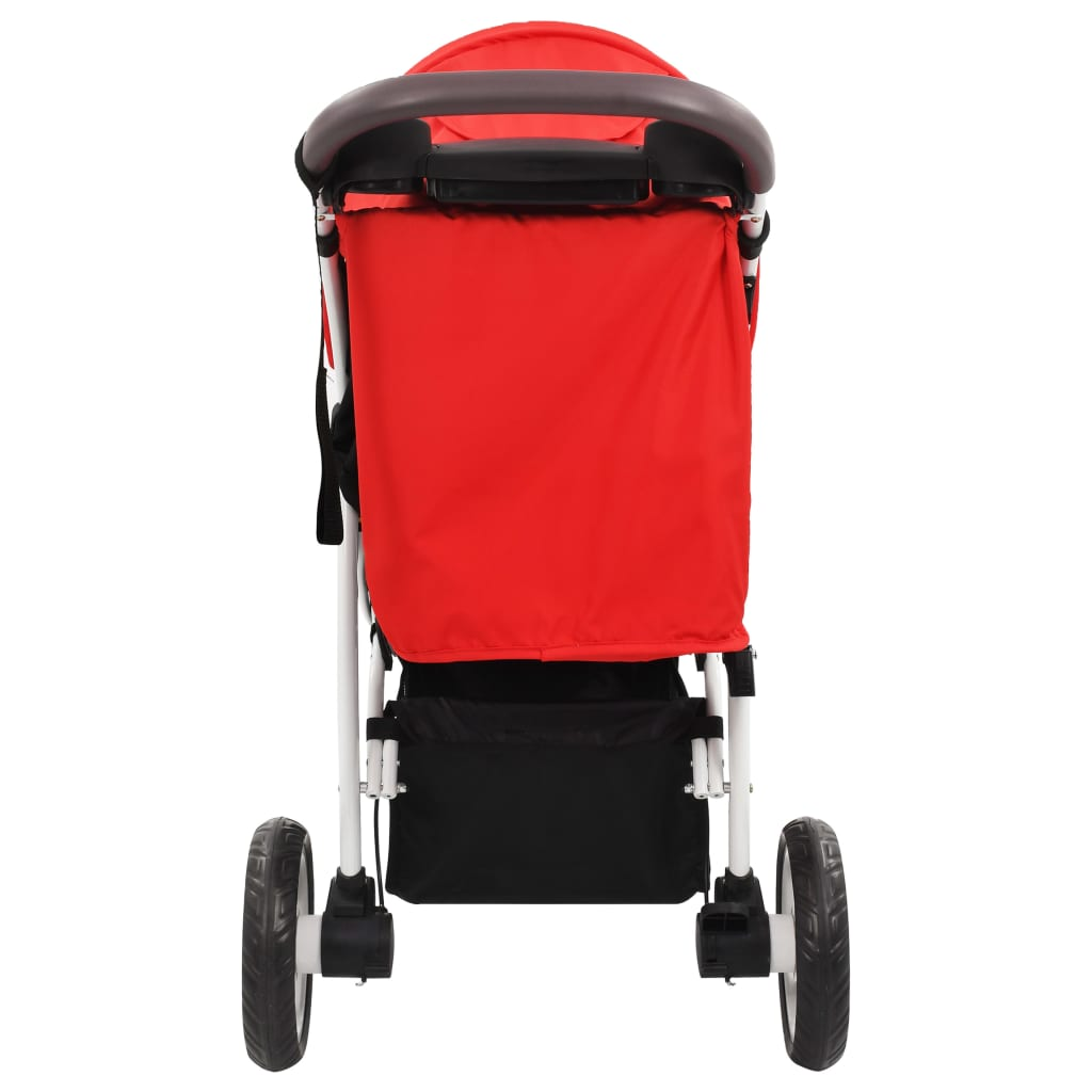 vidaXL Cărucior cu 3 roți pentru copii, roșu și negru